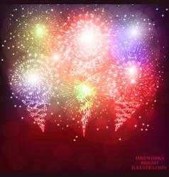 Festive fireworks background vector