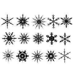 Frosted snowflake elements 3 of vector