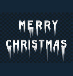 frozen text merry christmas vector image