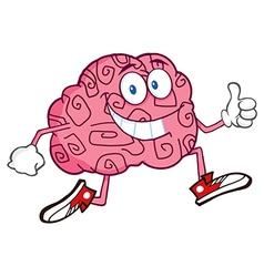 Funny Brain Cartoon vector