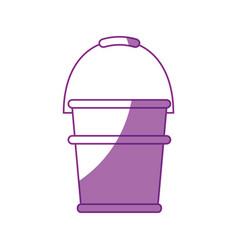 Gardening bucket icon vector