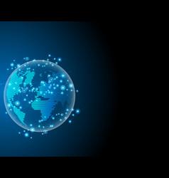 Global worldwide cyber wireless internet line vector