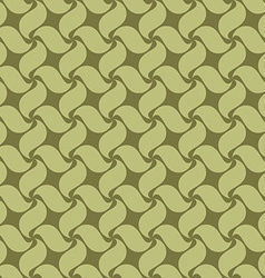 Green seamless pattern swirl leaves vector