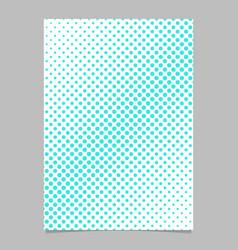Halftone circle pattern background brochure vector