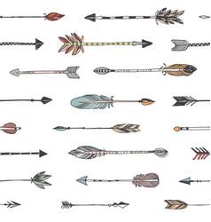 Hand drawn arrows patten vector