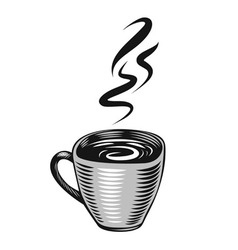 Hand-drawn cup vector image