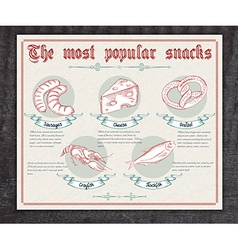 Hand drawn vintage infographic about the most vector