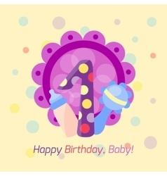 Happy birthday badge icon vector