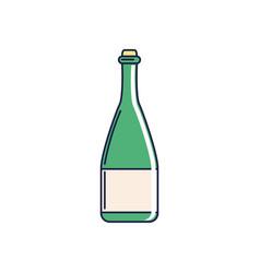 Happy birthday champagne bottle beverage vector