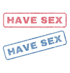 have sex textile stamps vector image vector image