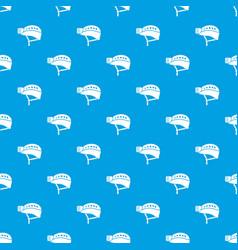helmet pattern seamless blue vector image