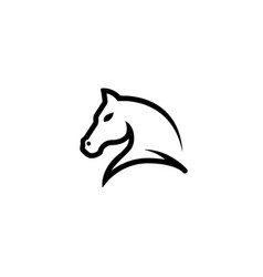 horse head symbol for logo vector image