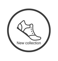 icon new collection of shoes flat style vector image