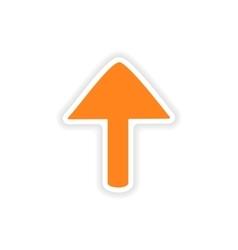 Icon sticker realistic design on paper arrows vector