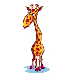 Image of a sad cartoon giraffe vector image