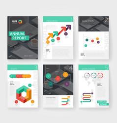 infographics brochure color black vector image