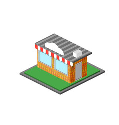 isometric shop stope icon vector image