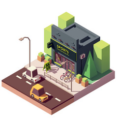 isometric sports and fitness store vector image