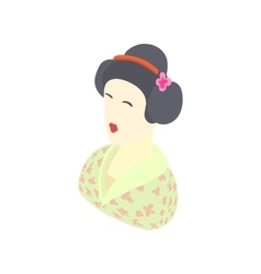 Japanese girl icon cartoon style vector image