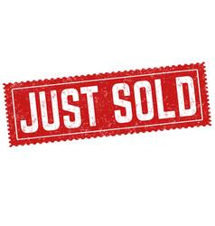 Just sold grunge rubber stamp vector