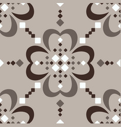 Large scale fair isle style brown beige seamless vector