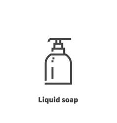 liquid soap icon symbol vector image