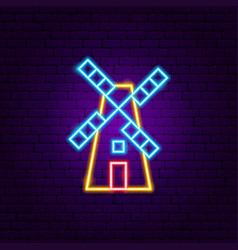 mill neon sign vector image