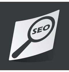 Monochrome SEO search sticker vector