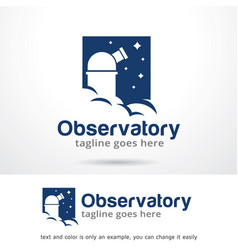 Observatory logo template vector