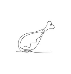 one single line drawing hot spicy and crispy vector image