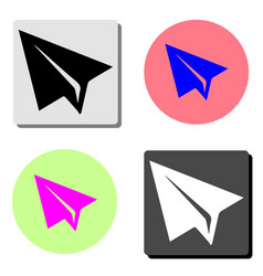 Paper airplane flat icon vector