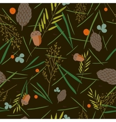 Pattern with the image of the forest cones fir vector