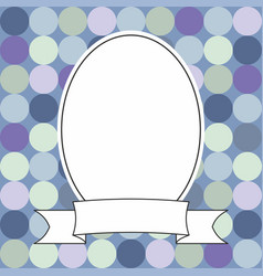 photo frame and polka dots on blue background vector image