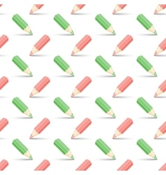 Red and green pencils vector
