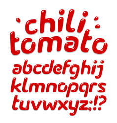 red ketchup alphabet vector image