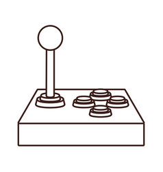 Retro gamepad videogame cartoon in black and white vector