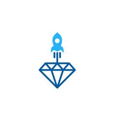 Rocket diamond logo icon design vector