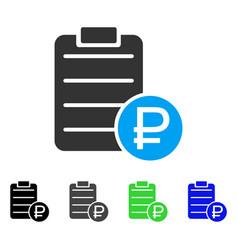 Rouble price list flat icon vector