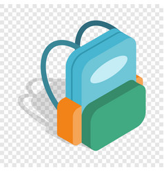 School backpack isometric icon vector