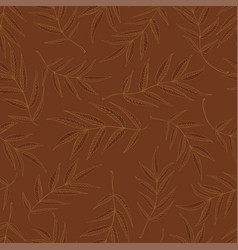 seamless pattern from leaves of mountain ash in vector image