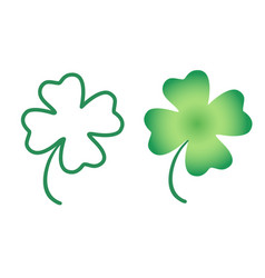 Set icons lucky clover for patricks day vector