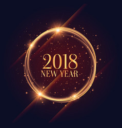 Shiny 2018 new year frame with sparkles background vector