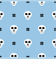 Simple seamless pattern with repeating skull vector