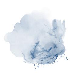 Stain blue splash watercolor vector