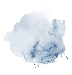stain blue stain splash watercolor vector image