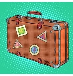 Suitcase traveler luggage vector