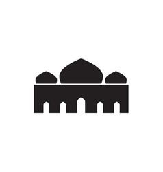 Triple dome silhouette mosque graphic design vector