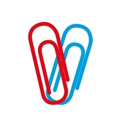 two clips red and blue school graphic vector image