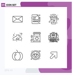 User interface pack 9 basic outlines form vector
