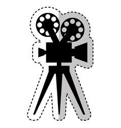 Video camera retro icon vector